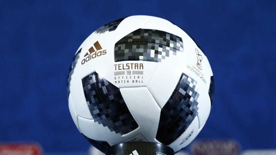 A view shows the official match ball for the 2018 FIFA World Cup.  (REUTERS)