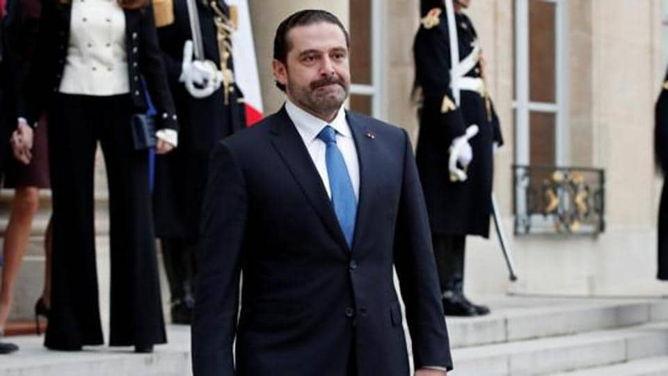 Saad al-Hariri, who announced his resignation as Lebanon's Prime Minister while on a visit to Saudi Arabia, is pictured at the Elysee Palace in Paris, France, November 18, 2017.