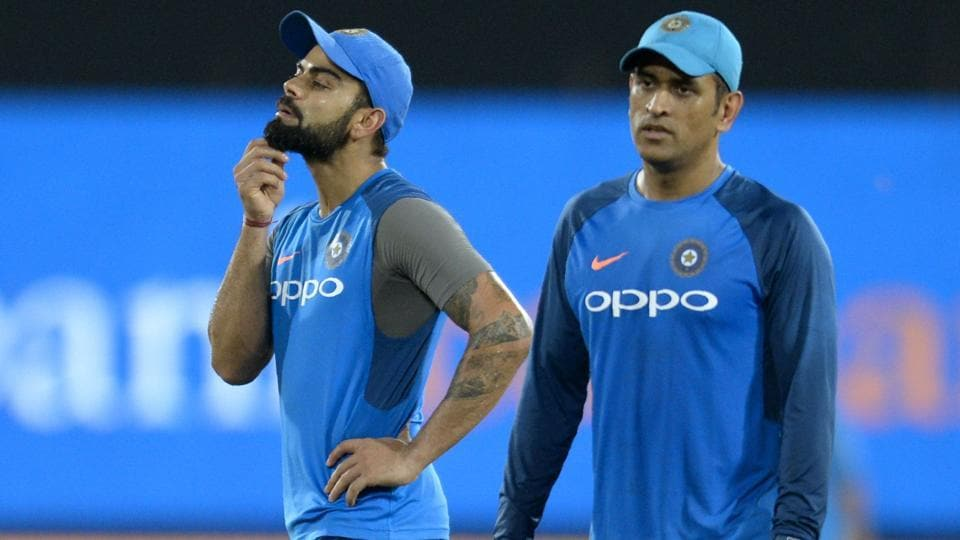 Virat Kohli (L) took over captaincy of the Indian cricket team from predecessor MS Dhoni.