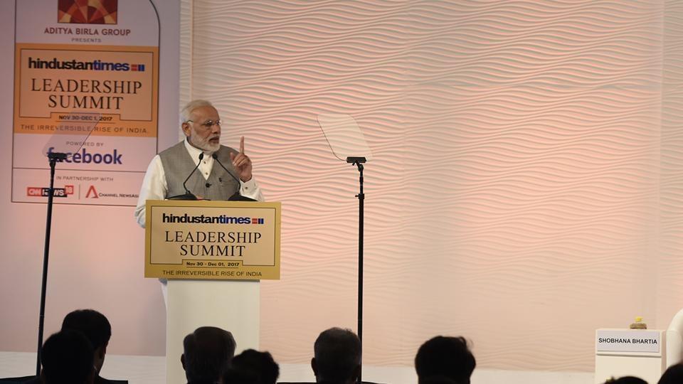 Narendra Modi,Hindustan Times Leadership Summit,HTLS 2017