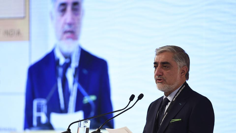 "Dr. Abdullah Abdullah, Chief Executive, Islamic Republic Of Afghanistan said, Afghanistan is thankful for India's ""soft power generosity"" in building infrastructure, opening trade routes and providing quality education. ""This is why India is a rising world power and not just an emerging regional economy,"" said Abdullah, who shares power with Afghan President Ashraf Ghani, while addressing the 15th Hindustan Times Leadership Summit. (Burhaan Kinu / HT Photo)"