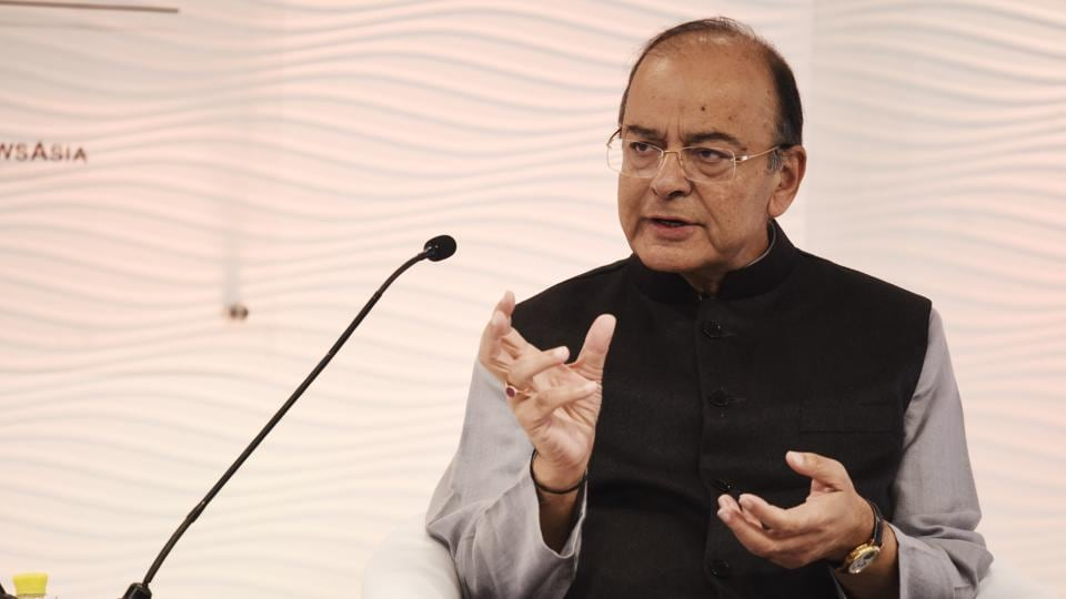 Finance minister Arun Jaitley during the Hindustan Times Leadership Summit on November 30.