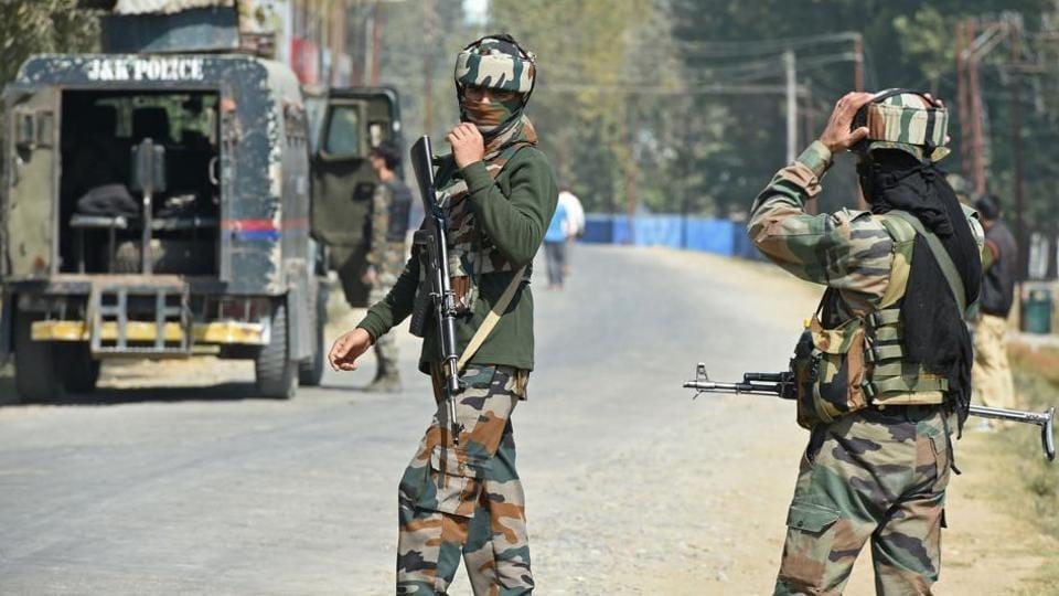 Gunfight,Badgam,Jammu and Kashmir