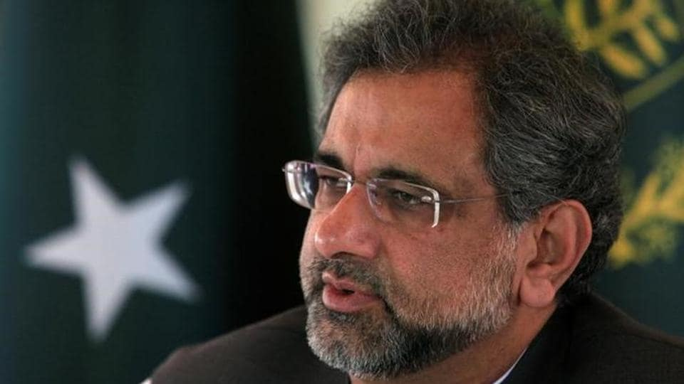 File photo of Pakistan Prime Minister Shahid Khaqan Abbasi at his office in Islamabad on September 11, 2017.