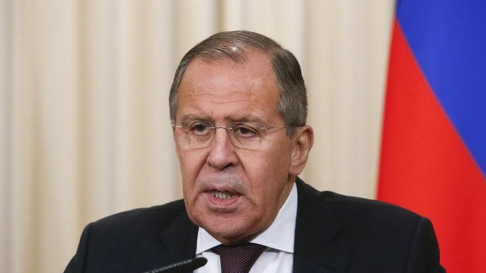 Russian Foreign Minister Sergei Lavrov attends a news conference after a meeting with his Japanese counterpart Taro Kono in Moscow, Russia November 24, 2017.