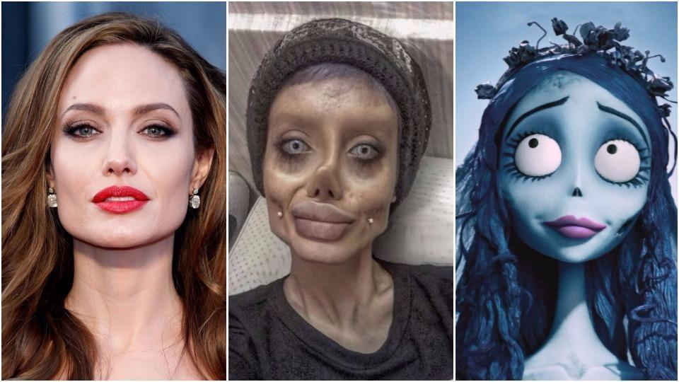 Sahar Tabar 2017 >> Woman undergoes 50 surgeries to look like Angelina Jolie but Twitter thinks she is the Corpse ...