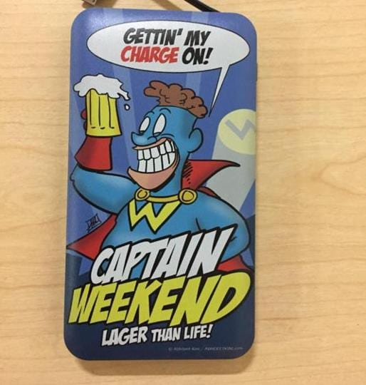 Captain Weekend, created by Abhijeet Kini; his superpower is the ability to binge on beer.