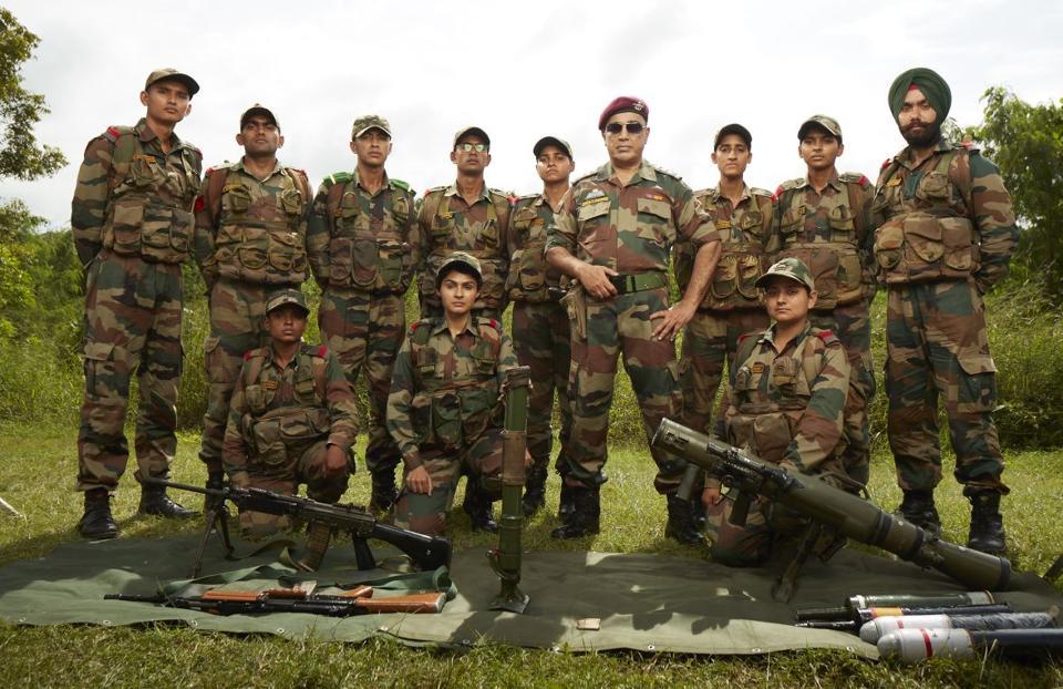 Kamal Haasan at the Officers Training Academy, Chennai.