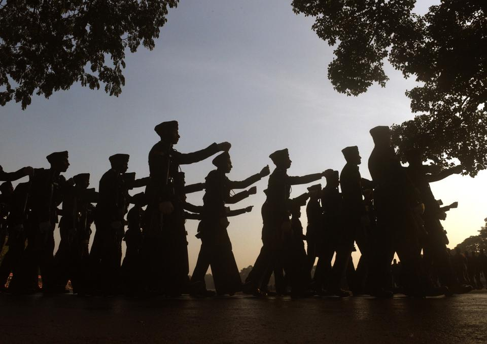 Cadets during the Passing Out Parade of the 133rd course of the National Defence Academy (NDA) in Pune on Thursday. (Pratham Gokhale/HT Photo)