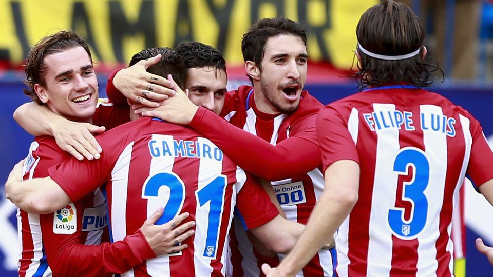 Kevin Gameiro (2nd left) and Antoine Griezmann (left) form a very formidable team up front for Atletico Madrid, says manager Diego Simeone.