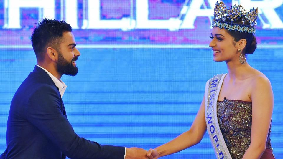 Virat Kohli, the Indian cricket team skipper and Manushi Chhillar, the newly crowned Miss World, were part of the CNN-News18 Indian of the Year 2017 Award function.