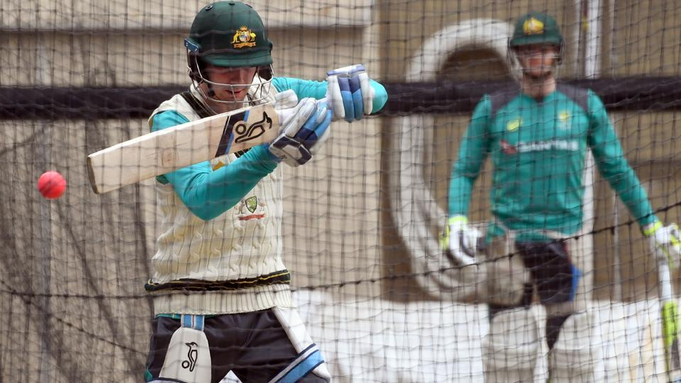 Australia and England practised intensely ahead of the Pink Ball Ashes Test as Joe Root's side looked to get back on even terms against Australia.  (AFP)