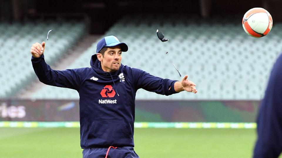 Alastair Cook, who failed in the Brisbane Test, will be aiming to make amends in Adelaide.  (AFP)