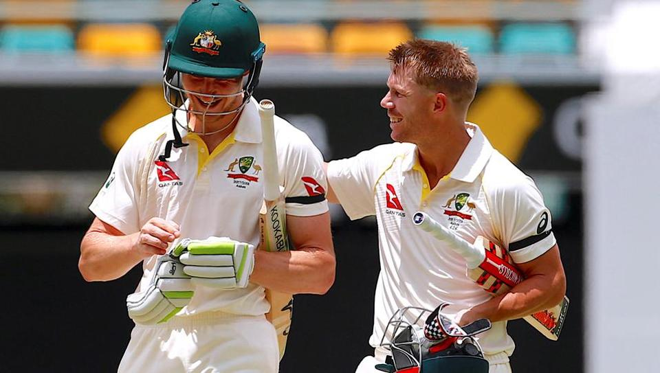 Australia beat England by 10 wickets in the first Ashes Test in Brisbane.