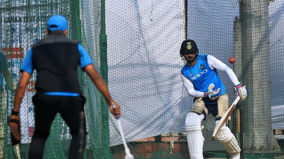Virat Kohli practised hard as he looked to give India a 2-0 win in front of his home fans in New Delhi.  (AFP)