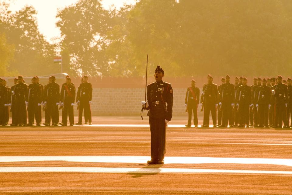 Cadets during the Passing Out Parade of the 133rd course of the National Defence Academy (NDA) in Pune on Thursday. (Sanket Wankhade/HT PHOTO)