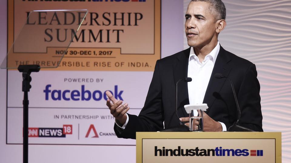 Barack Obama,Hindustan Times Leadership Summit,HT Leadership Summit 2017