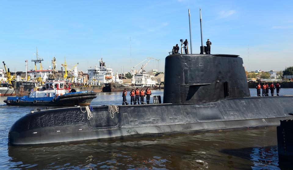 File photo of the Argentine submarine ARA San Juan.