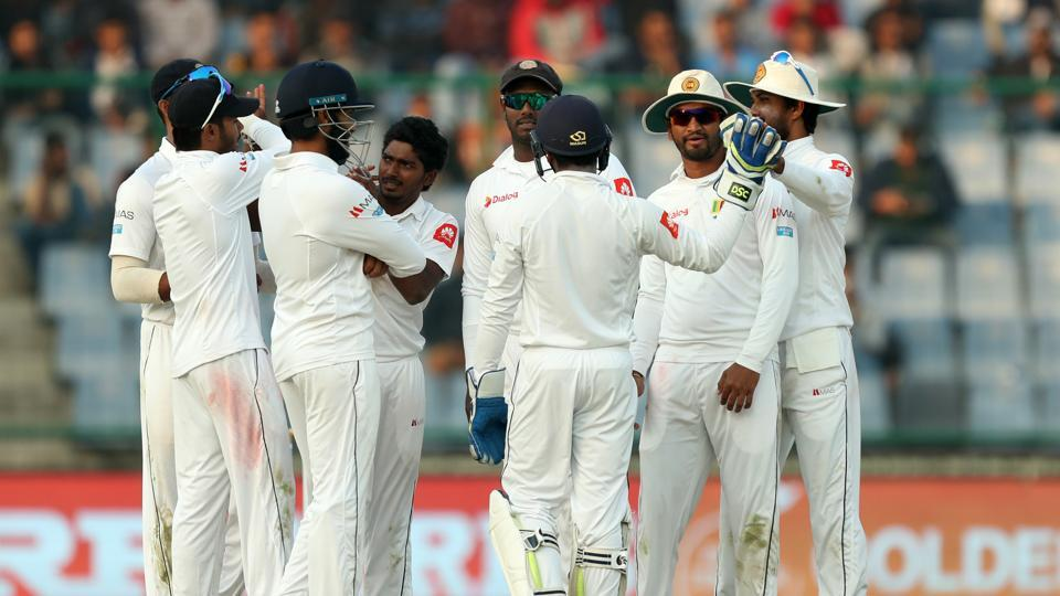 Lakshan Sandakan picked up the wicket of Ajinkya Rahane but India ended up on 371/4 at stumps on day one of the third Test at the Feroz Shah Kotla.  (BCCI)