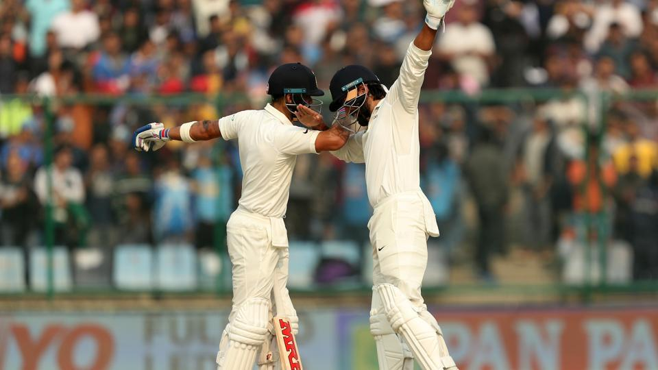 Murali Vijay and Virat Kohli slammed 150s as India reached a dominant position at stumps on day 1 of the third and final Test against Sri Lanka at the Feroz Shah Kotla. (BCCI)