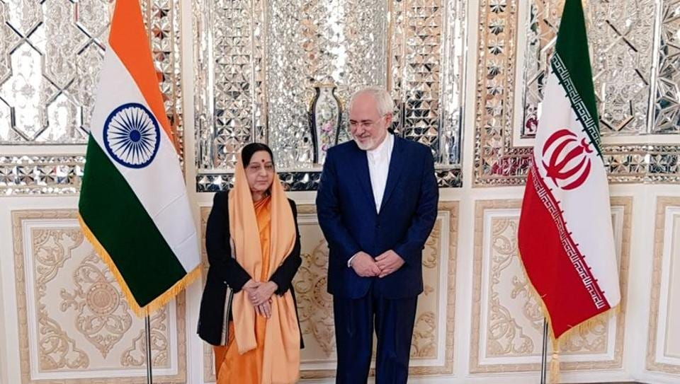 External Affairs Minister (EAM) Sushma Swaraj on Saturday had a luncheon meeting with her Iranian counterpart Dr Javad Zarif in Tehran