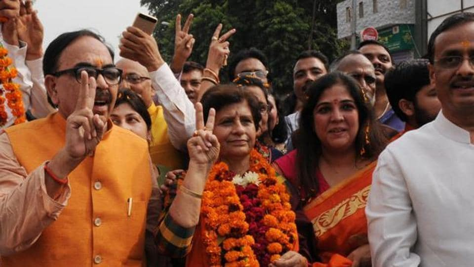 There are high expectations of Sanyukta Bhatia - the winning candidate from the ruling Bharatiya Janata Party.