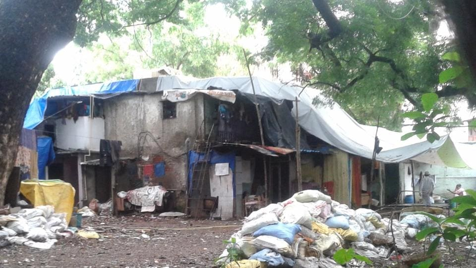 The alleged illegal structure on the premises of Navpada Kokni Kabrastan.