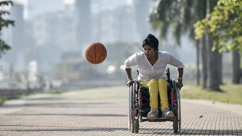 Nisha Gupta has won accolades for the country at the International Wheelchair Basketball Championship in July. In May 2004, Gupta sustained severe injuries to the head and spinal cord after she fell down while plucking mangoes. However, by December 2015, she won the bronze medal at the National Wheelchair Basketball championship and earlier this year was recognized as one of the top five most promising female players at the international competition in Bali. (Kunal Patil / HT Photo)