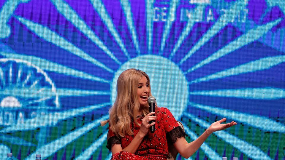 Ivanka Trump, daughter of US President Donald Trump, speaks during the Global Entrepreneurship Summit 2017 (GES) in Hyderabad, Telangana on November 29, 2017. (Cathal McNaughton / REUTERS)