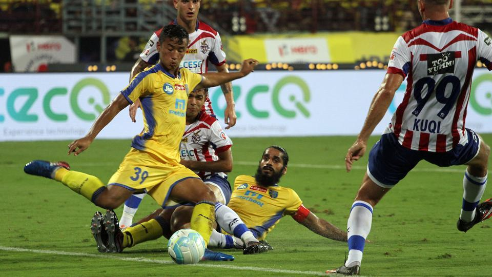Kerala Blasters face Mumbai City FC in the Indian Super League on Sunday.