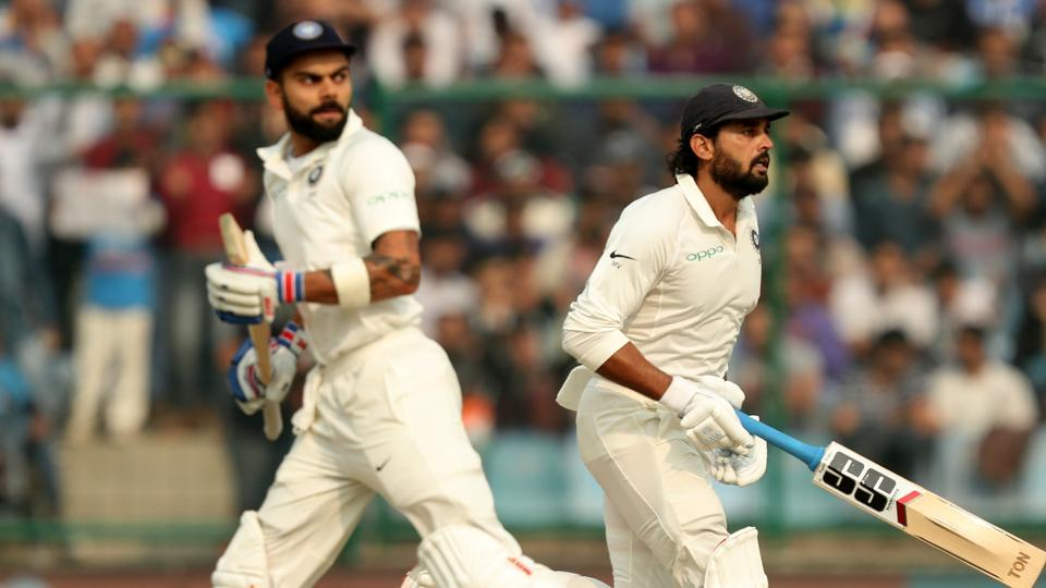 Murali Vijay and Virat Kohli walloped 150s as India dominated on the first day of the third Test in New Delhi. Get highlights of India vs Sri Lanka, third Test, day 1 here.