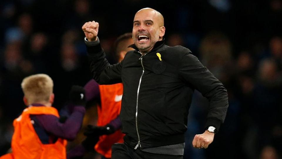 Pep Guardiola led Manchester City top the Premier League standings currently.