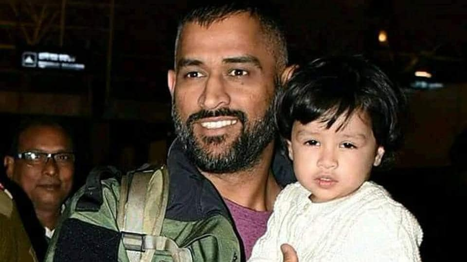 Former Indian cricket team captainMSDhoni and his daughter Ziva.