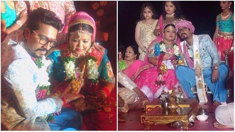 Bharti Singh and Harsh Limbachiyaa tied the knot in a Hindu ceremony.