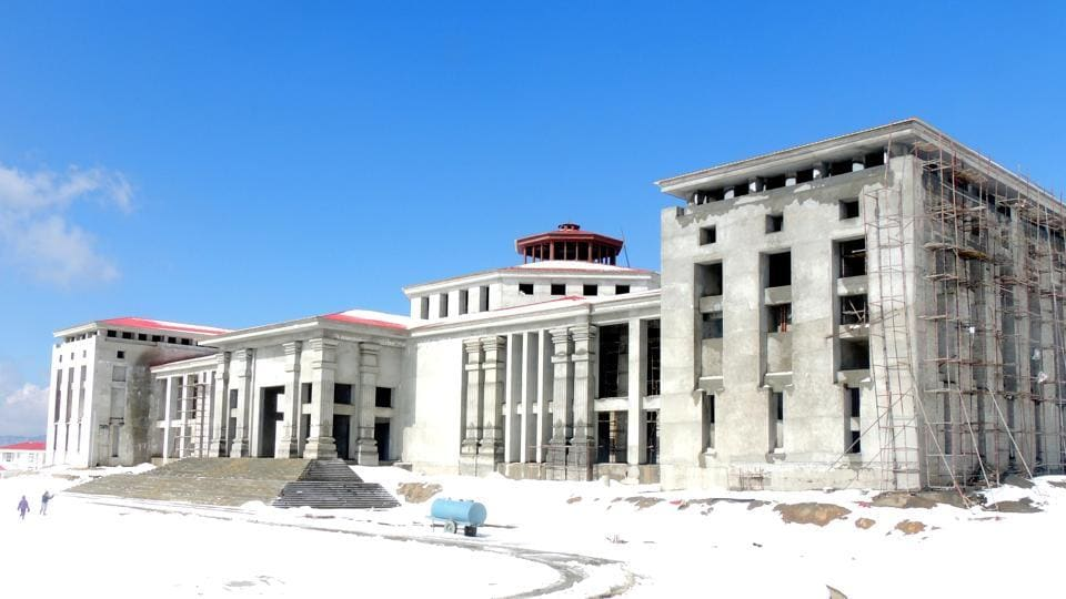 The  under construction assembly building at  Gairsain in Uttarakhand