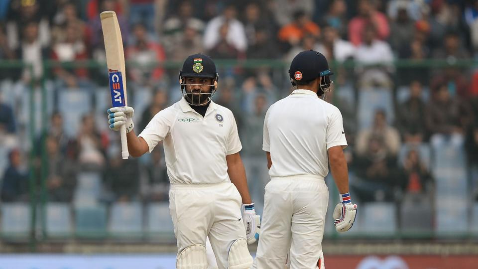 Rohit Sharma was eventually dismissed for 65.