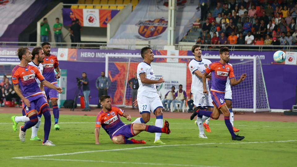 This was the second win on the trot for 2015 champions Chennaiyin FC. (ISL / SPORTZPICS)