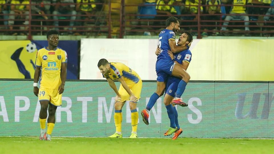However, Balwant Singh scored the equaliser for Mumbai City FC late in the second half.  (ISL / SPORTZPICS)