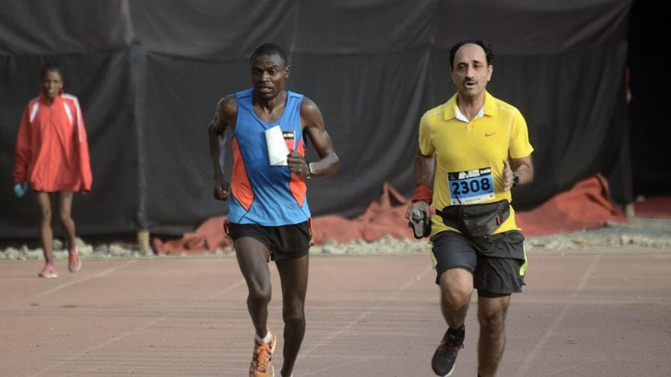 Race director Pralhad Sawant claimed that they have received permission from the Association of International Marathons (AIM) and don't need permission from AFI.  (Ravindra Joshi/HT PHOTO)