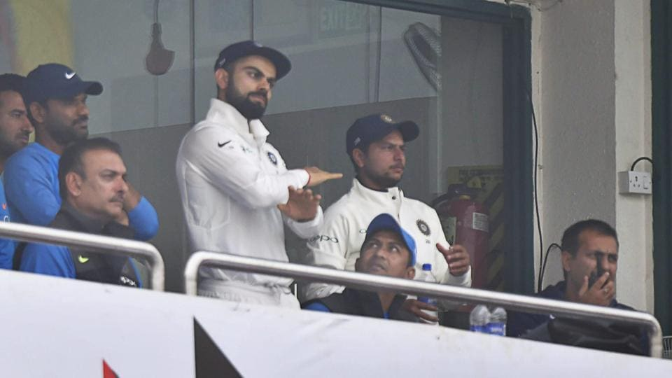 Virat Kohli declares after Sri Lanka ran out of substitute fielders.  (PTI)