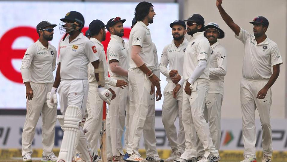Indian bowlers picked up three Sri Lankan wickets on Day 2 of the third Test in New Delhi on Sunday. Get full cricket score of India vs Sri Lanka, third Test, Day 2 here.