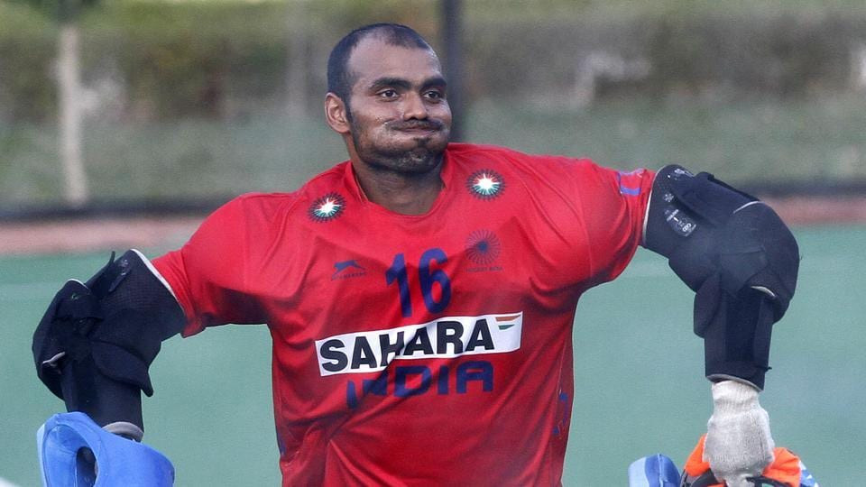 Indian men's hockey team goalkeeper had played in a charity football match in October.