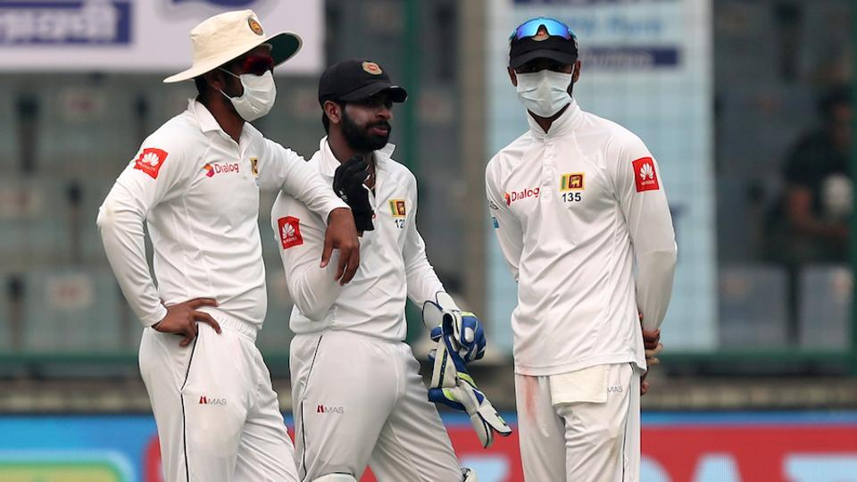 Pollution in Delhi temporarily held up play during the 3rd Test between India and Sri Lanka on Sunday.