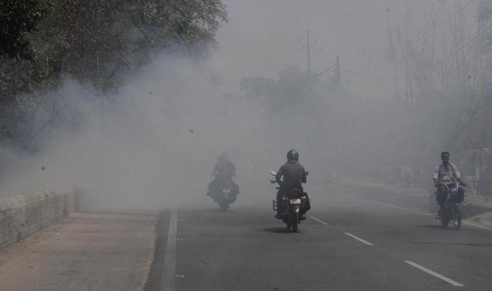 Despite poor air quality, people in the city are still engaged in burning trash and household waste in the open, which is further adding to the air pollution.