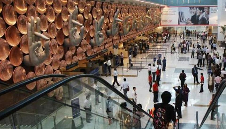 assengers arrive in the new, integrated Terminal 3 of the IGI Airport .