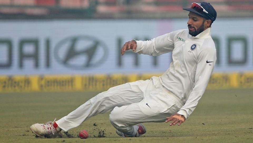 Shikhar Dhawan missed an important catch during India vs Sri Lanka Test series.