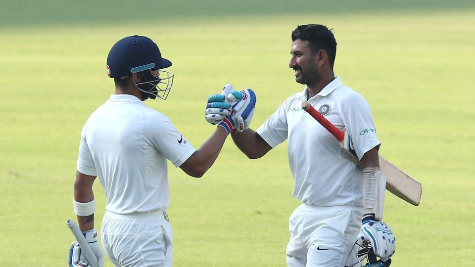 Virat Kohli has credited Cheteshwar Pujara's ability to concentrate for long periods of time when he is scoring big hundreds as his inspiration for his batting form.