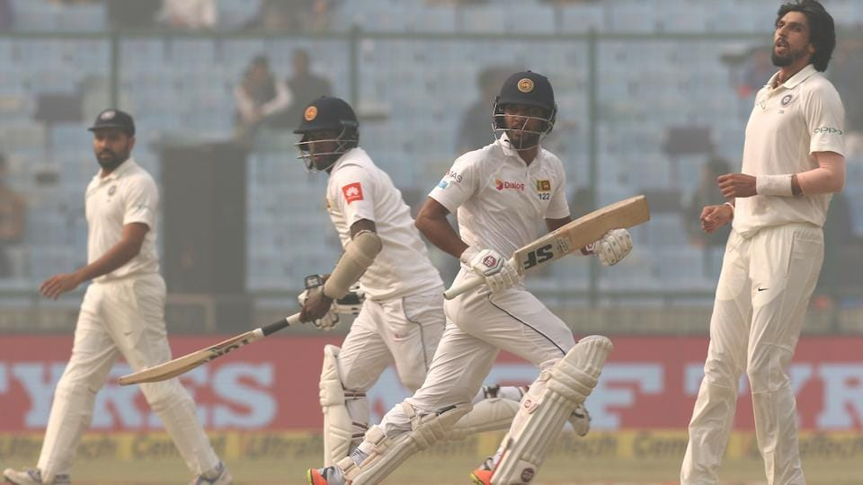 Dinesh Chandimal and Angelo Mathews resumed the day at 131/3 provided solidity to the Sri Lankar innings in the morning. The two put together a fantastic partnership of 181-runs for the fourth wicket. (BCCI)