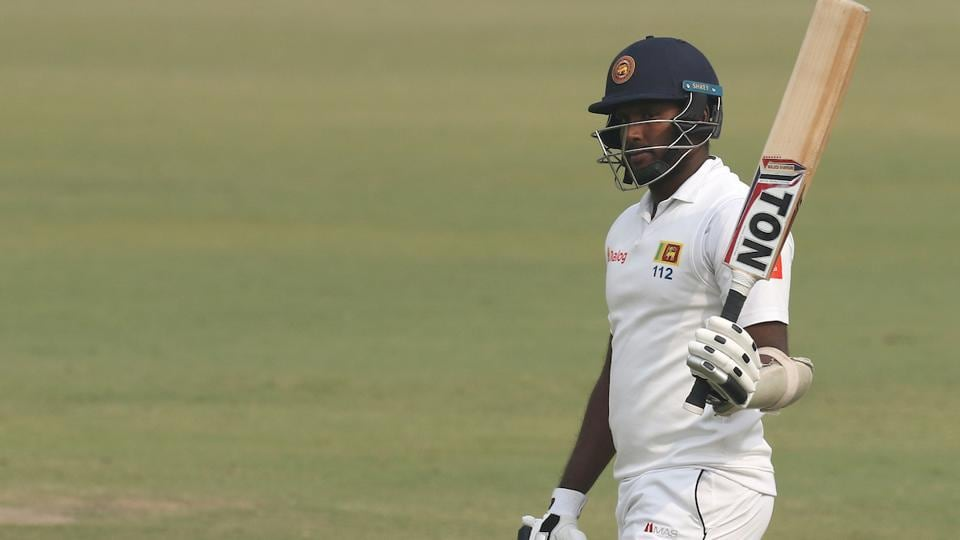 Angelo Mathews scored his eighth Test century, third against India and first since 2015 on Monday. She eventually got out at the stroke of tea off R Ashwin. (BCCI)