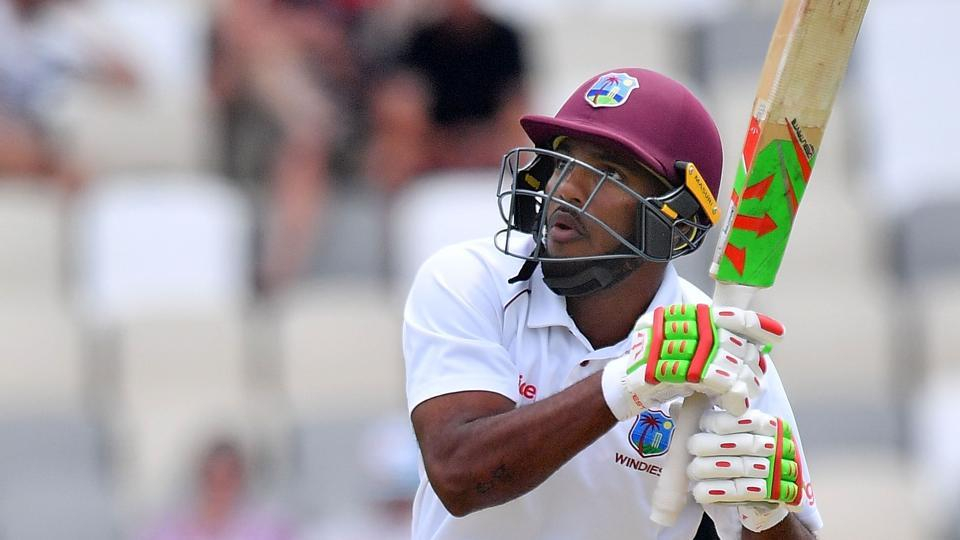 Sunil Ambris became the sixth batsman to hit a six as their first scoring shot in Tests after being dismissed hit-wicket for a golden duck in the first Test against New Zealand in Wellington.